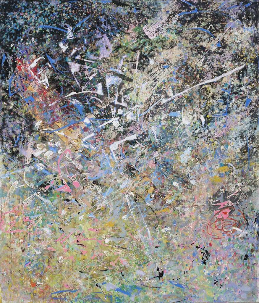 God's Covenant at the Event Horizon, 2010, acrylic on canvas, by Jim Public
