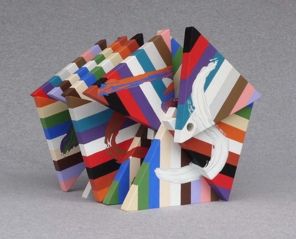 Le Baron, 2010, acrylic on mdf, by Jim Public