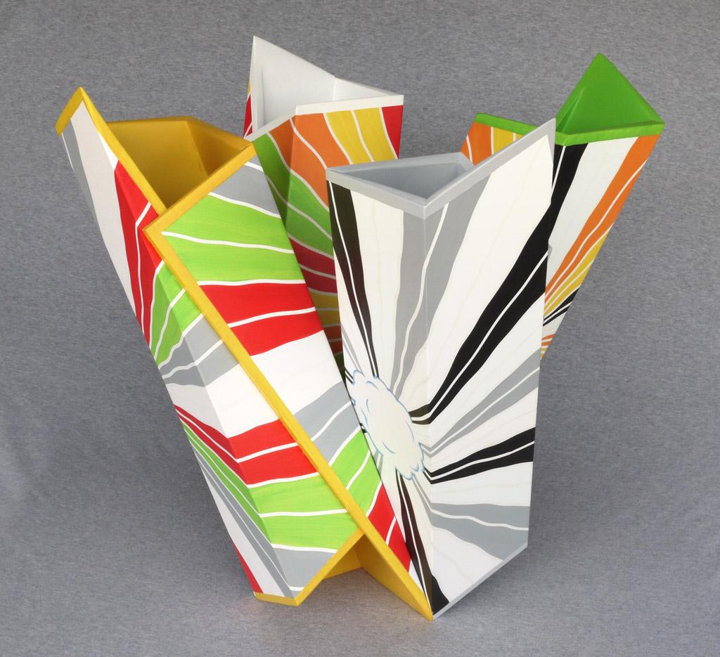 Whirligig, 2009, acrylic on mdf, by Jim Public