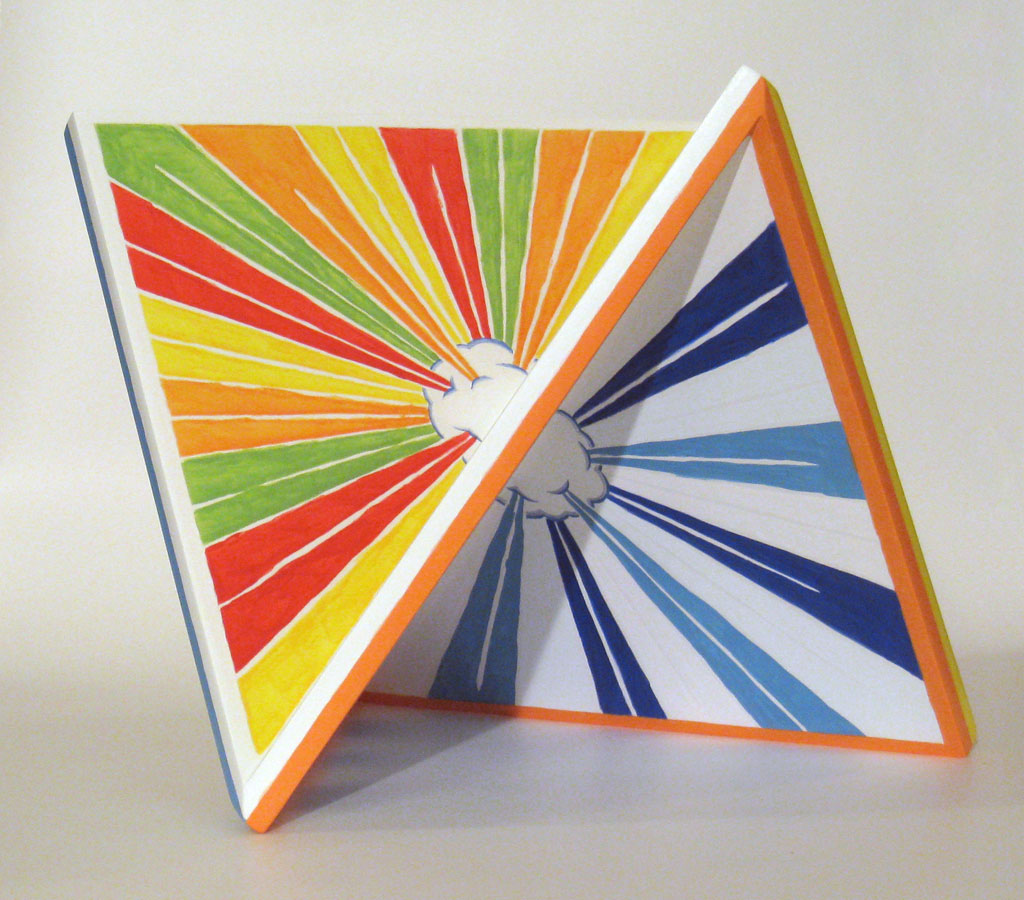Glorious Turn maquette, 2008, acrylic on mdf, by Jim Public, aka James Hough