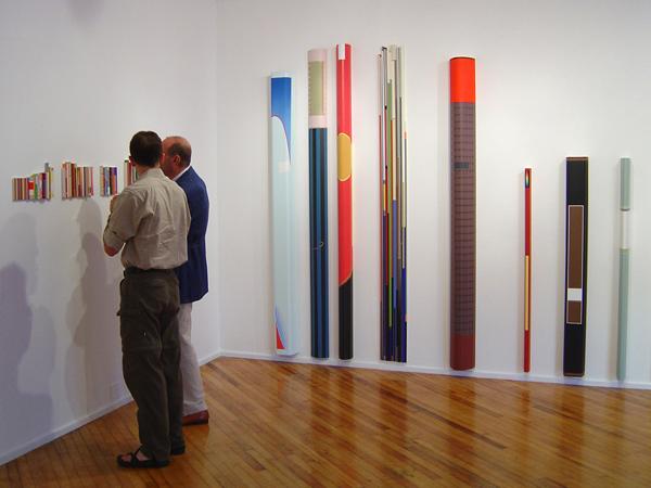 sixteen:one gallery installation, Pocketbook installation, 2004, by Jim Public, aka James Hough