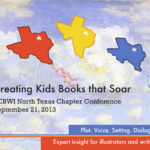 SCBWI North Texas Chapter Conference postcard (front), 2013, by James Hough