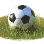 Soccer Ball in the Grass, spot illustration, by James Hough, 2014