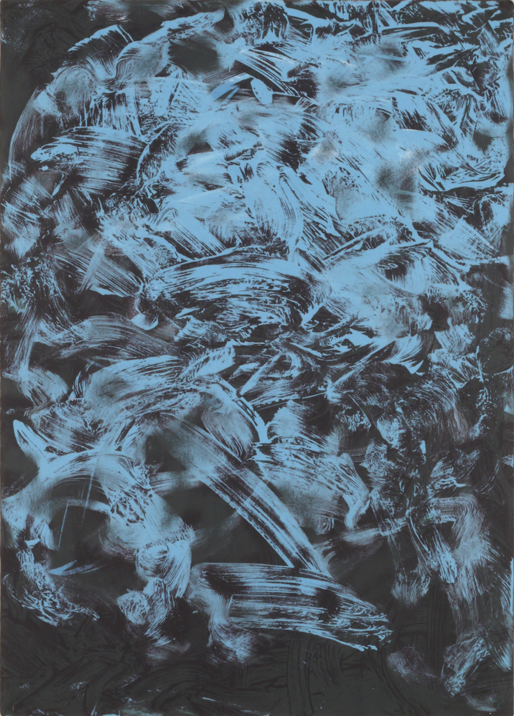 James Hough, black acrylic study, June 2014, 140623