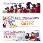 Faith Family Academy billboards, Summer 2014, James Hough graphic designer