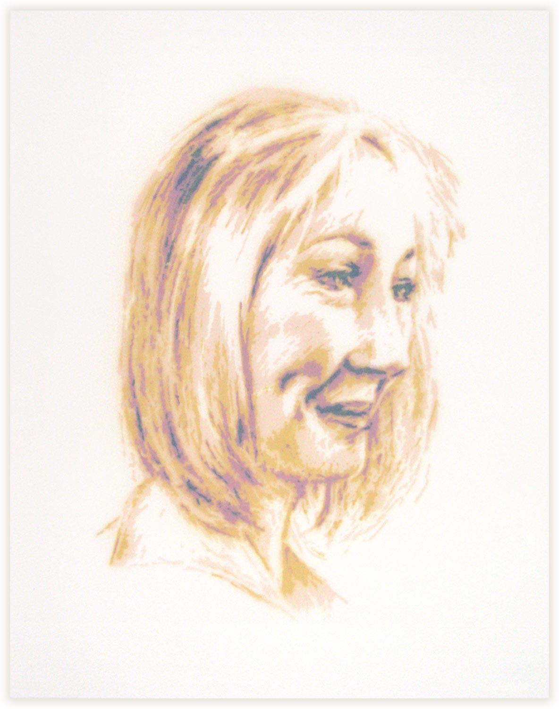JK Rowling original stencil portrait