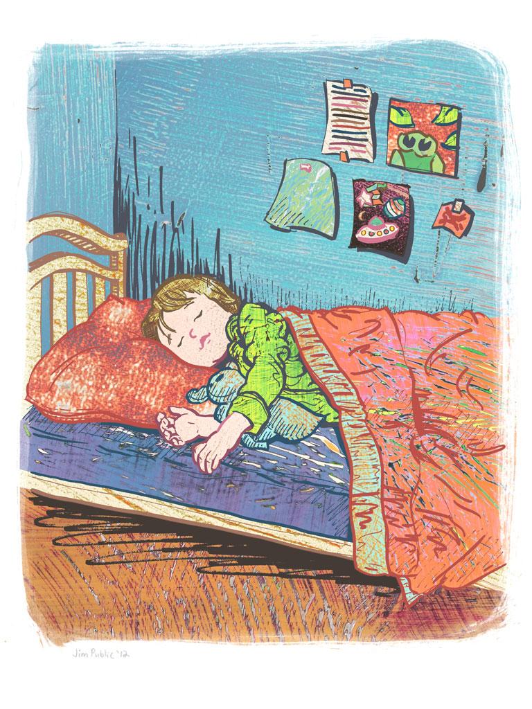 Big boy sleeping, by Jim Public