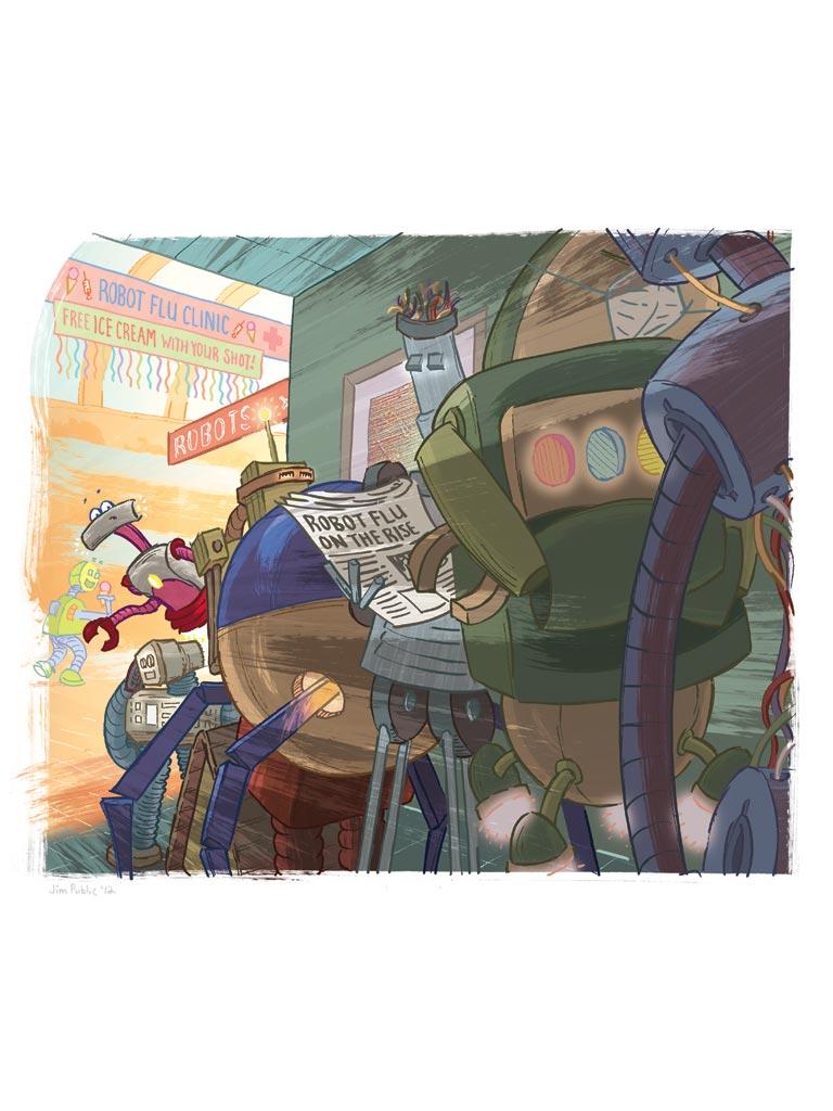 Robot Flu Queue, Jim Public 2012