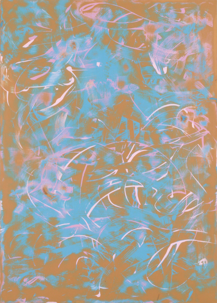 James Hough, orange acrylic study, June 2014, 140623