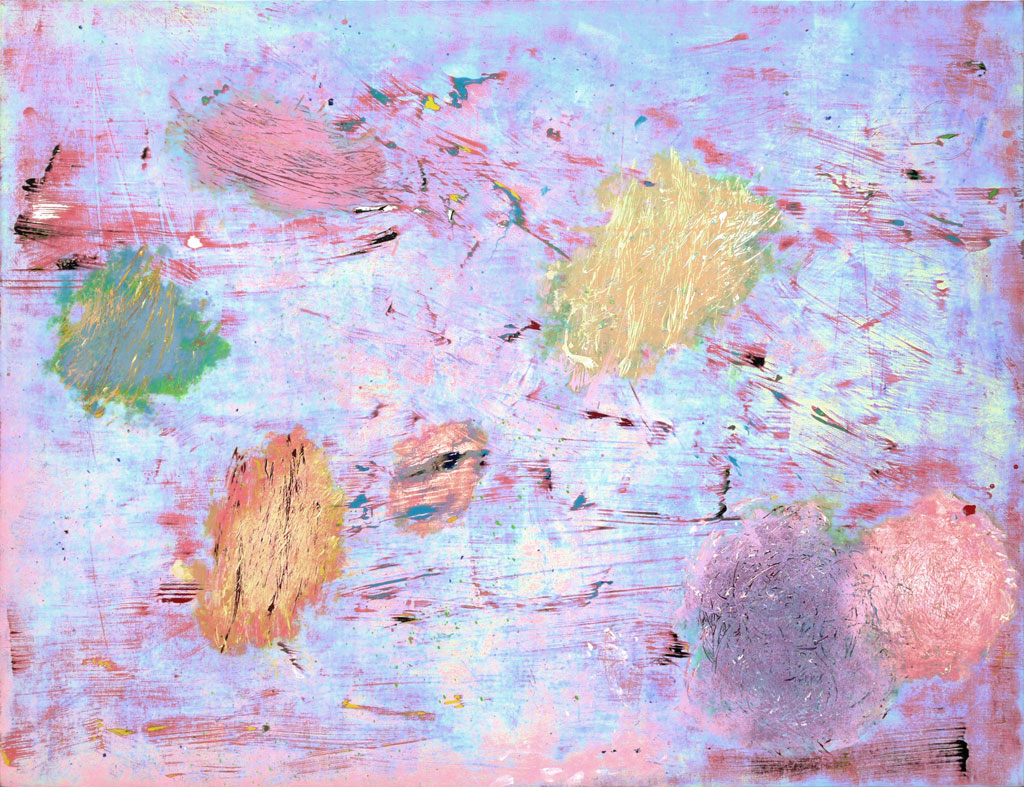 Bump, 2011, acrylic on canvas, by Jim Public