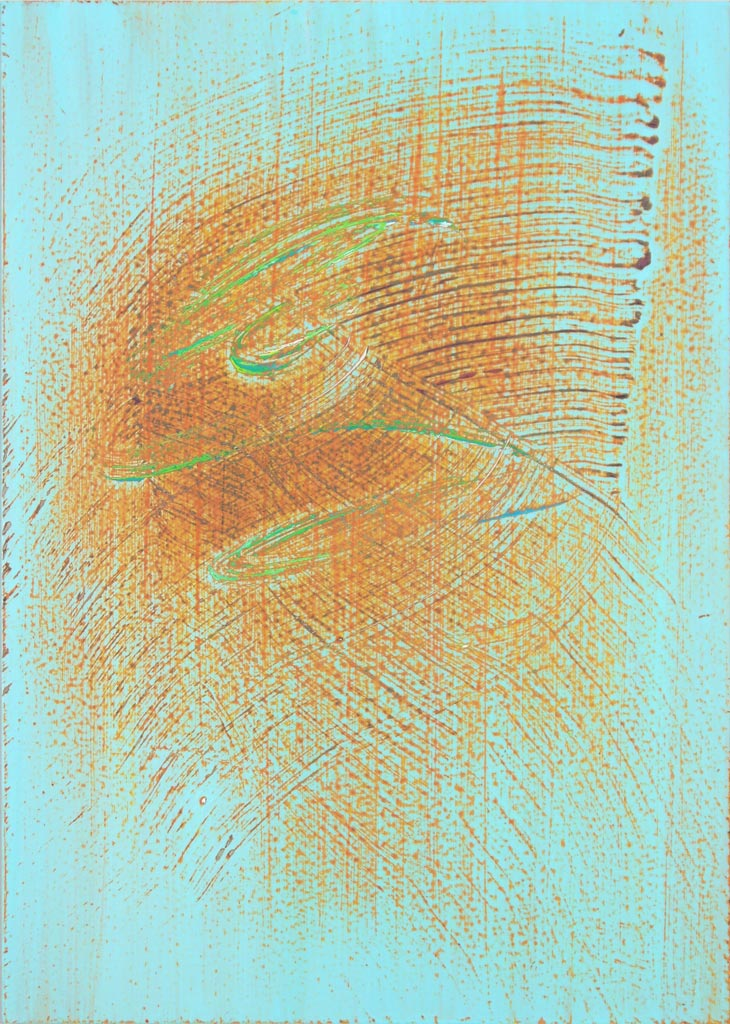Study 8 September 2011, acrylic on acrylic, by Jim Public