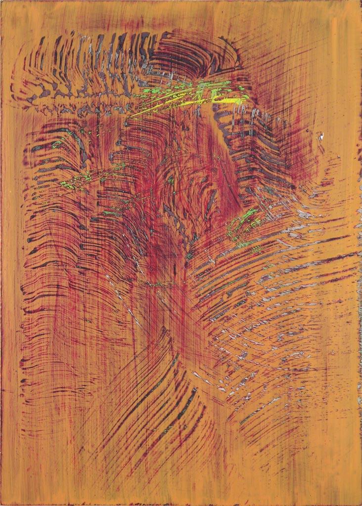 Study 7 September 2011, acrylic on acrylic, by Jim Public