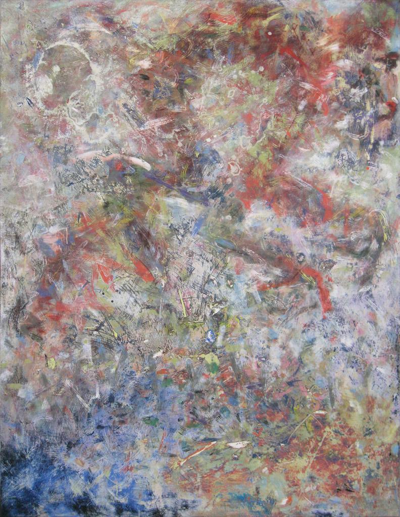 Run Big Monkey, 2010, acrylic on canvas, by Jim Public