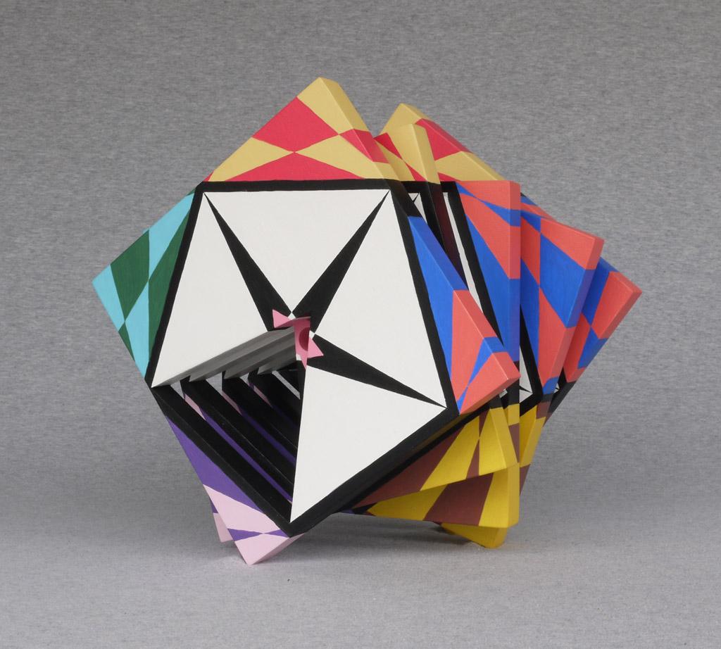 Three Four Five, 2009, acrylic on mdf, by Jim Public