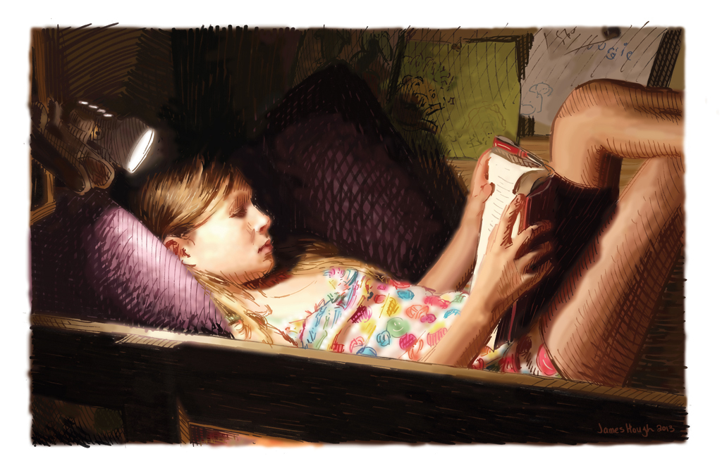 James Hough, Reader, 2013, digital painting