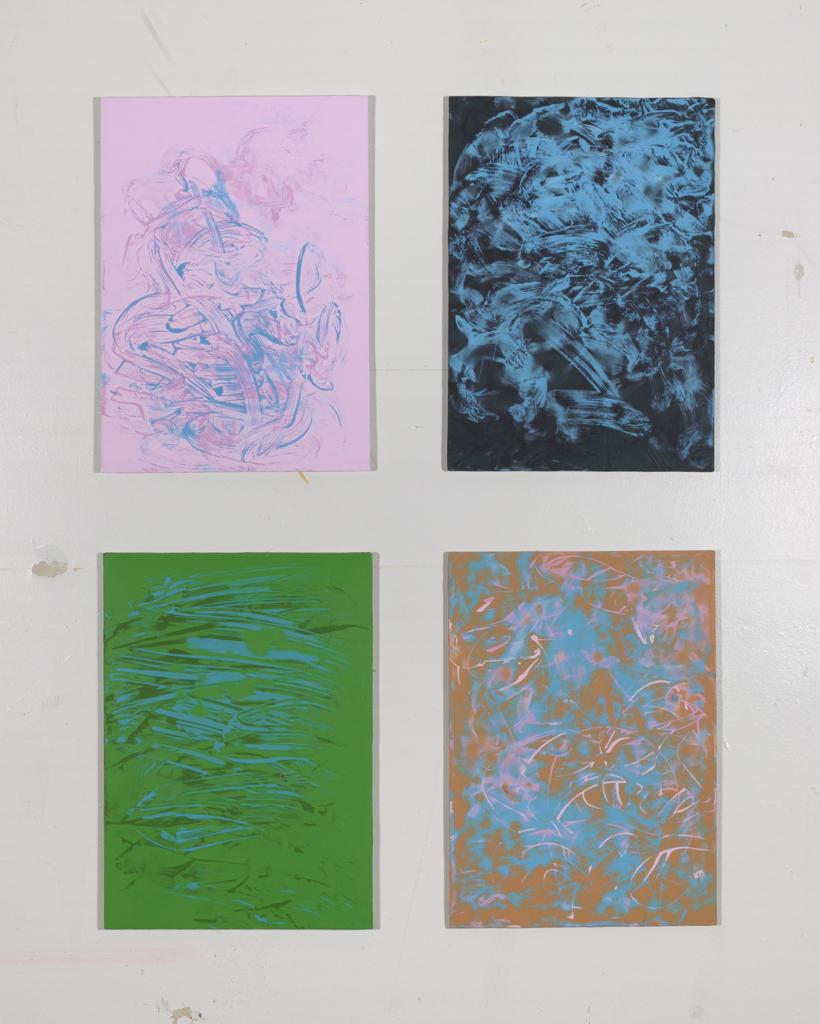 James Hough, 4 acrylic studies, June 2014, 140623