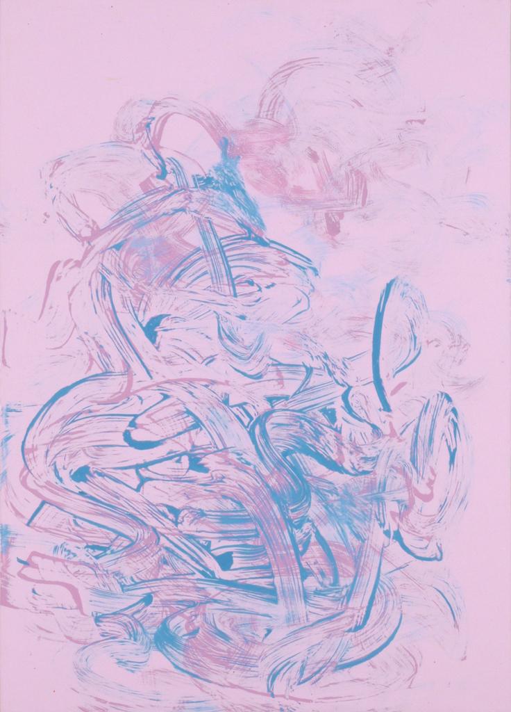James Hough, pink acrylic study, June 2014, 140623