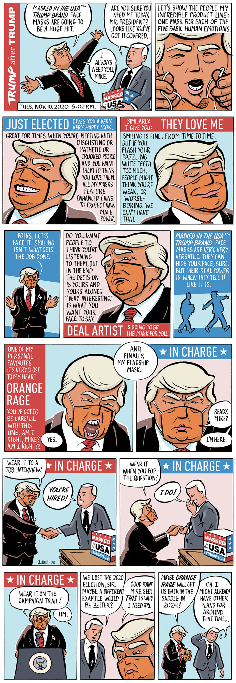 Trump After Trump Comic Strip 4-panel strip - full-color Sunday comic
