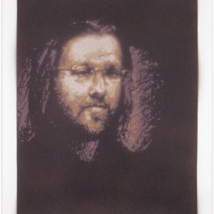 David Foster Wallace original stencil portrait