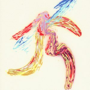 Just Strokes, Series 1, No. 3, stencil painting by James Hough