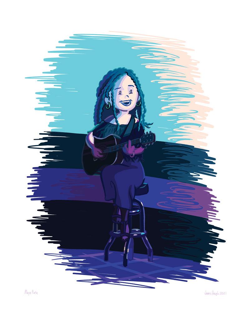 Maya Piata fan art illustration by James Hough, 2021